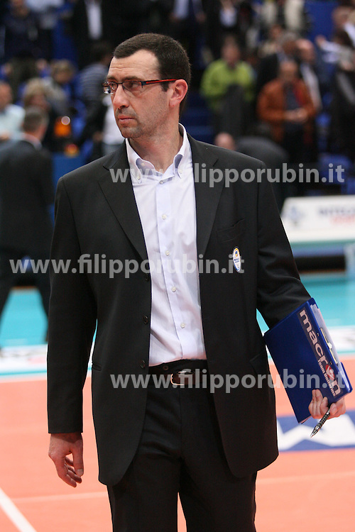 Bruno Bagnoli.Cimone Modena - RPA Perugia.Campionato italiano volley A1 maschile 06-07.Foto Galbiati - Rubin