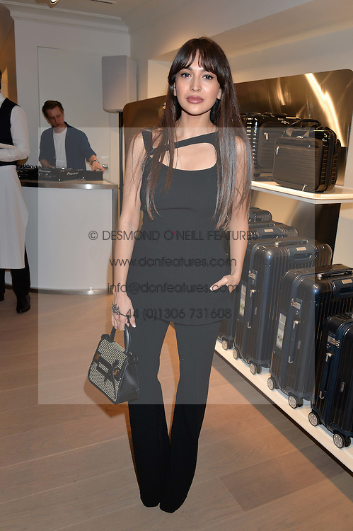 ZARA MARTIN at the launch of the new Rimowa store at 153a New Bond Street, London on 29th June 2016.