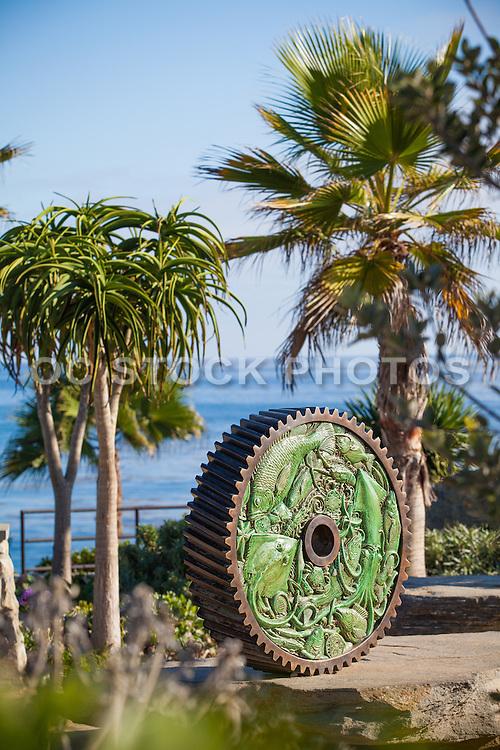 Interlocking Gear Sculpture at Heisler Park in Laguna Beach