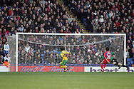 London - Tuesday, January 1st, 2008: Darel Russell of Norwich City scores his side's first goal against Crystal Palace during the Coca Cola Championship match at Selhurst Park, London. (Pic by Mark Chapman/Focus Images)