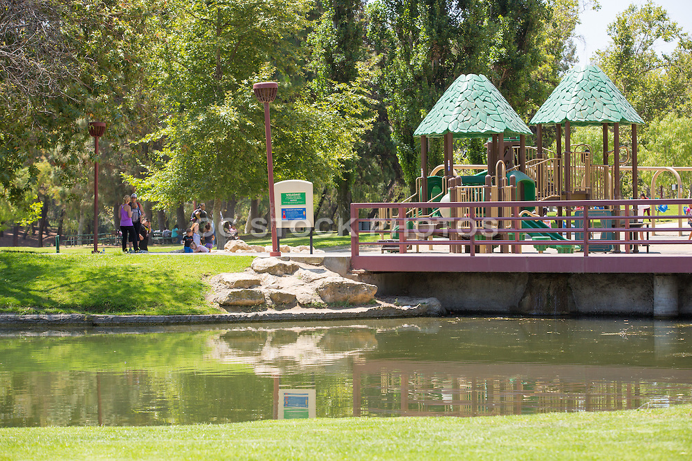 Playground Area at Ralph B. Clark Regional Park in Buena Park