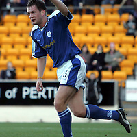 St Johnstone v Raith Rovers..26.12.04<br />Ian Maxwell celebrates scoring St Johnstone's first goal<br /><br />Picture by Graeme Hart.<br />Copyright Perthshire Picture Agency<br />Tel: 01738 623350  Mobile: 07990 594431