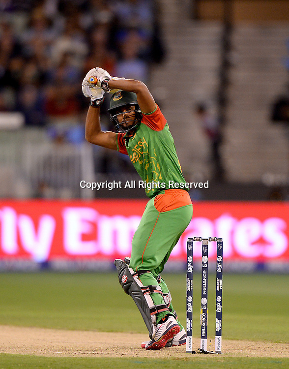 MD Mahmud Ullah (Bang)<br /> India vs Bangladesh / Qtr Final 2<br /> 2015 ICC Cricket World Cup<br /> MCG / Melbourne Cricket Ground <br /> Melbourne Victoria Australia<br /> Thursday 19 March 2015<br /> &copy; Sport the library / Jeff Crow