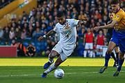 Joss Labadie (4) runs into the box during the EFL Sky Bet League 2 second leg Play Off match between Mansfield Town and Newport County at the One Call Stadium, Mansfield, England on 12 May 2019.