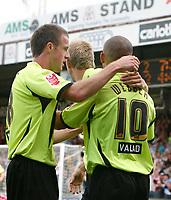 Photo: Steve Bond.<br />Scunthorpe United v Sheffield United. Coca Cola Championship. 01/09/2007. Danny Webber (10) after scoring his second