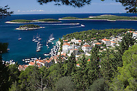 Coastal town in the island of Hvar Dalmatia