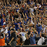 New York Mets fans go wild at a Lucas Duda, New York Mets, hits a two run home run off Jordan Zimmermann,  Washington Nationals, during the New York Mets Vs Washington Nationals MLB regular season baseball game at Citi Field, Queens, New York. USA. 2nd August 2015. Photo Tim Clayton