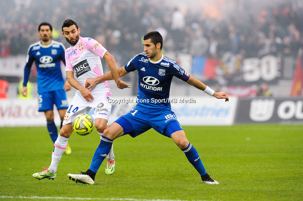 Cedric BARBOSA / Maxime GONALONS - 07.12.2014 - Evian Thonon / Lyon - 17eme journee de Ligue 1 -<br />Photo : Jean Paul Thomas / Icon Sport