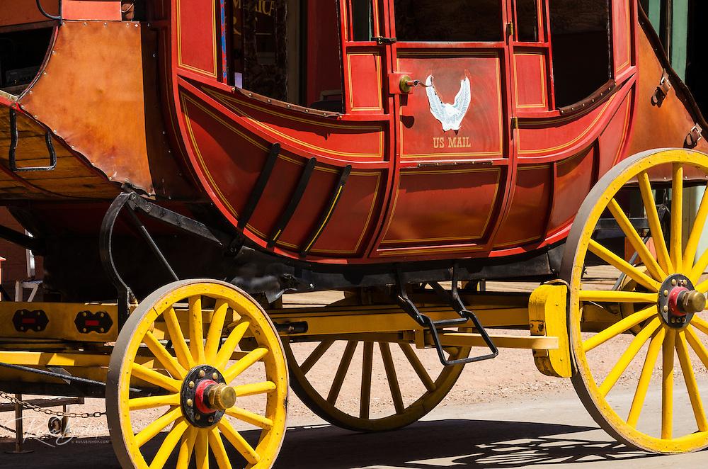 Stagecoach detail, Tombstone, Arizona USA