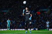 Leeds United goalkeeper Kiko Casilla (13) in action during the EFL Sky Bet Championship match between Leeds United and Queens Park Rangers at Elland Road, Leeds, England on 2 November 2019.