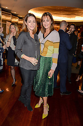 Left to right, NATALIE PINKHAM and YASMIN LE BON at a ladies lunch in aid of the charity Child Bereavement UK held at The Bulgari Hotel, 171 Knightsbridge, London on 25th February 2016.