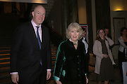 Camilla Parker Bowles. Everyman's Centenary Party. The Fine Rooms. Royal Academy. London. 15 February 2006. dddONE TIME USE ONLY - DO NOT ARCHIVE  © Copyright Photograph by Dafydd Jones 66 Stockwell Park Rd. London SW9 0DA Tel 020 7733 0108 www.dafjones.com