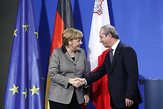 JAN 9 2013 Angela Merkel and Lawrence Gonzi