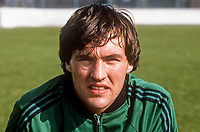 George Dunlop, Linfield FC, Belfast, N Ireland, footballer, N Ireland tracksuit, March, 1982, 198203000061GD<br /> <br /> Copyright Image from Victor Patterson, 54 Dorchester Park, Belfast, UK, BT9 6RJ<br /> <br /> t1: +44 28 9066 1296 (from Rep of Ireland 048 9066 1296)<br /> t2: +44 28 9002 2446 (from Rep of Ireland 048 9002 2446)<br /> m: +44 7802 353836<br /> <br /> e1: victorpatterson@me.com<br /> e2: victorpatterson@gmail.com<br /> <br /> www.victorpatterson.com<br /> <br /> IMPORTANT: Please see my Terms and Conditions of Use at www.victorpatterson.com