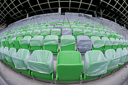 A week before the opening of a new football stadium and sports arena in Stozice, on August 4, 2010, in Stozice, Ljubljana, Slovenia.  (Photo by Vid Ponikvar / Sportida)