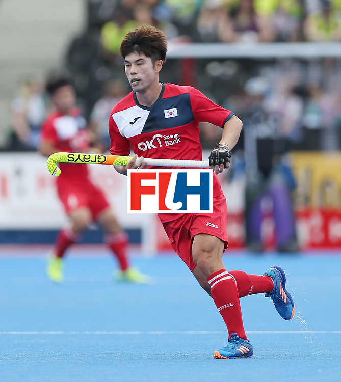 LONDON, ENGLAND - JUNE 15:  Suk Hoon Cho of Korea during the Hero Hockey World League Semi Final match between Korea and Argentina at Lee Valley Hockey and Tennis Centre on June 15, 2017 in London, England.  (Photo by Alex Morton/Getty Images)