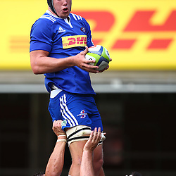 CAPE TOWN, SOUTH AFRICA - FEBRUARY 13: Pieter-Steph du Toit of the DHL Stormers during the Super Rugby Pre Season match between DHL Stormers and Jaguares at DHL Newlands Stadium on February 13, 2016 in Cape Town, South Africa. (Photo by Steve Haag/Gallo Images)