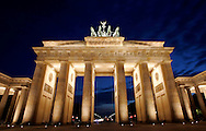 GERMANY - BERLIN - The Brandenburger Gate. PHOTO GERRIT DE HEUS