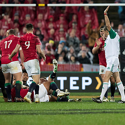 Charlie Faumuina  penalised during game 9 of the British and Irish Lions 2017 Tour of New Zealand, the second Test match between  The All Blacks and British and Irish Lions, Westpac Stadium, Wellington, Saturday 1st July 2017<br /> (Photo by Kevin Booth Steve Haag Sports)<br /> <br /> Images for social media must have consent from Steve Haag