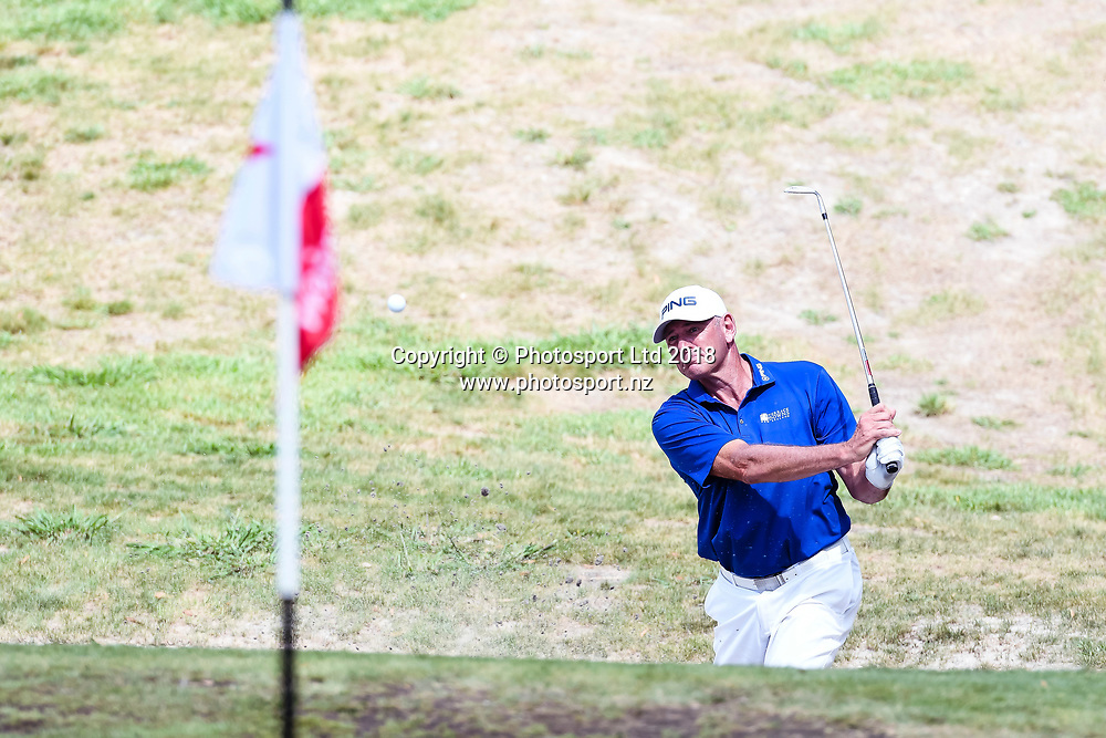 Peter Fowler (NSW) on hole 2.<br /> NZ Rebel Sports Masters, Wainui Golf Club, Wainui, Auckland, New Zealand. 14 January 2018. &copy; Copyright Image: Marc Shannon / www.photosport.nz.