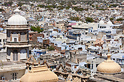 View of Udaipur from The City Palace of 76th Maharana of Udaipur, Rajasthan, India