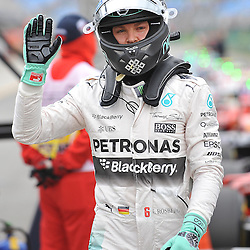 Nico Rosberg, Mercedes AMG Petronas F1 Team after qualifying.<br /> Round 1 - Third day of the 2015 Formula 1 Rolex Australian Grand Prix at The circuit of Albert Park, Melbourne, Victoria on the 14th March 2015.<br /> Wayne Neal | SportPix.org.uk