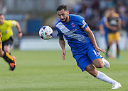 Billy Paynter (Hartlepool United) in action during the Sky Bet League 2 match between Hartlepool United and Cambridge United at Victoria Park, Hartlepool, England on 19 September 2015. Photo by George Ledger.
