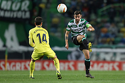 February 14, 2019 - Lisbon, Portugal - Bruno Fernandes of Sporting CP in action during the Europa League 2018/2019 footballl match between Sporting CP vs Villarreal FC. (Credit Image: © David Martins/SOPA Images via ZUMA Wire)
