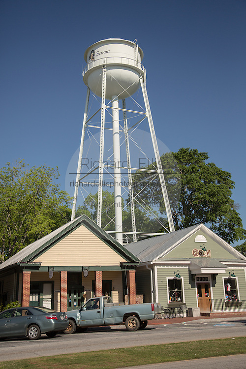 Town of Senoia where the television series The Walking Dead is filmed May 8, 2013 in Senoia, Georgia.