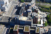 Nederland, Noord-Holland, Amsterdam, 09-04-2014; Zuid-as, overzicht campus van de Vrije Universiteit VU. Met VUmc Cancer Center en ACTA (tandheelkunde), Academisch Ziekenhuis Vrije Universiteit VUmc. <br /> Zuid-as, 'South axis', financial center in the South of Amsterdam, with University Hospital VUmc (Vrije Universiteit) and VU MC Cancer Center.<br /> Amsterdam equivalent of 'the City', financial district. <br /> luchtfoto (toeslag op standard tarieven);<br /> aerial photo (additional fee required);<br /> copyright foto/photo Siebe Swart