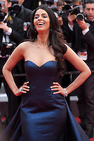 Malika Sherawat at the gala screening for the film Macbeth at the 68th Cannes Film Festival, Saturday 23rd May 2015, Cannes, France.