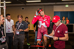 BELKOV Maxim from Russia of Team Katusha (RUS) before the start at velodrome Omnisport, stage 1 (ITT) from Apeldoorn to Apeldoorn running 9,8 km of the 99th Giro d'Italia (UCI WorldTour), The Netherlands, 6 May 2016. Photo by Pim Nijland / PelotonPhotos.com | All photos usage must carry mandatory copyright credit ( Peloton Photos | Pim Nijland)