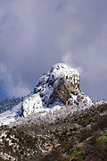 Moro Rock after a winter storm, Sequoia National Park, California USA