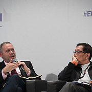 03 June 2015 - Belgium - Brussels - European Development Days - EDD - Inclusion - Social enterprise - Stemming the tide on income inequality - Peter Holbrook , Chief Executive , Social Enterprise UK - Aung Tun Thet<br /> President's Economic Advisor, Myanmar and Senior Advisor, United Nations (UN) © European Union