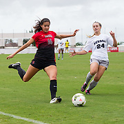 04 October 2015 - The San Diego State Aztecs women's soccer team took on Nevada and won 4-0. Leah Pruitt, Angela Mitchell, and Milan Moses all had goals for the Aztecs.