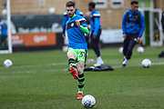 Forest Green Rovers Alex Bray(31) warming up during the EFL Sky Bet League 2 match between Forest Green Rovers and Mansfield Town at the New Lawn, Forest Green, United Kingdom on 24 March 2018. Picture by Shane Healey.