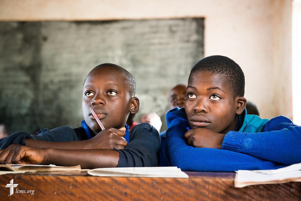 Students take class Wednesday, June 11, 2014, at the Luanda Doho Primary School in Kakmega County, Kenya. LCMS Communications/Erik M. Lunsford