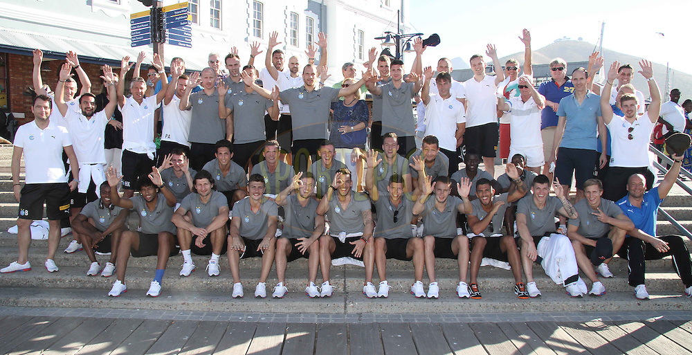 GCZ Grasshoppers Touring Squad with sponsors during the GCZ Grasshoppers Table Bay boat cruise in Cape Town, South Africa on the 22nd January 2013..Photo by:  Shaun Roy/ SPORTZPICS