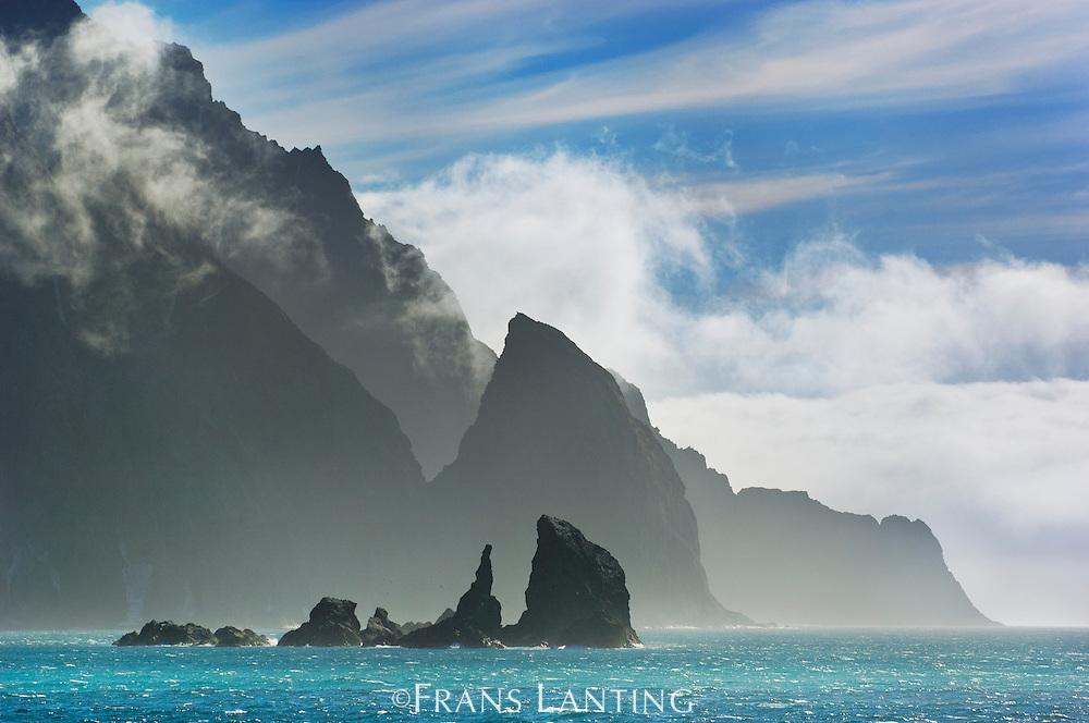 Coastline. Elephant Island, South Shetland Archipelago, Antarctic