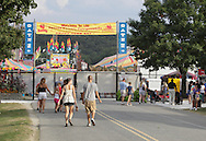 Augusta, New Jersey - People walk to the entrance to the New Jersey State Fair and Sussex County Farm and Horse Show on Aug. 11, 2010.