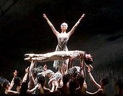 The Birmingham Royal Ballet <br /> Three Short Story Ballets (mixed Bill) <br /> at Birmingham Hippodrome, Birmingham, Great Britain <br /> Rehearsal 21st June 2017 <br /> <br /> Le Baiser de la f&eacute;e <br /> Choreography by Michael Corder<br /> <br /> Music: Igor StravinskyDesigns: John MacfarlaneLighting: Paule Constable<br /> <br /> CastFairy:  C&eacute;line Gittens <br /> <br /> Young Man: <br /> <br /> Mathias Dingman<br /> <br /> <br /> <br /> <br /> <br /> Photograph by Elliott Franks <br /> Image licensed to Elliott Franks Photography Services