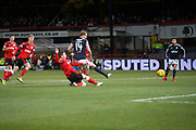 24th November 2017, Dens Park, Dundee, Scotland; Scottish Premier League football, Dundee versus Rangers; Dundee's Mark O'Hara scores for 2-1