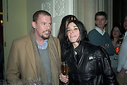 ALEXANDER MCQUEEN AND SUE WEBSTER, Tim Noble and Sue Webster: Sacrificial Heart. Gagosian . Davies St. London and afterwards Claridges. 11 December 2007. . -DO NOT ARCHIVE-© Copyright Photograph by Dafydd Jones. 248 Clapham Rd. London SW9 0PZ. Tel 0207 820 0771. www.dafjones.com.