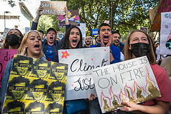 London, UK. 20 September, 2019. Students take part in the second Global Climate Strike in protest against a lack of urgent action by the UK Government to combat the global climate crisis. The Global Climate Strike grew out of the Fridays for Future movement and is organised in the UK by the UK Student Climate Network.