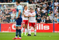 Scott Brown of Accrington Stanley celebrates scoring a goal - Mandatory by-line: Dougie Allward/JMP - 21/04/2018 - FOOTBALL - Adam's Park - High Wycombe, England - Wycombe Wanderers v Accrington Stanley - Sky Bet League Two