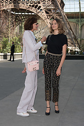 Ines De La Fressange with her daughter Violette Marie d'Urso attending the Chanel Haute Couture Fall/Winter 2017-2018 show as part of Haute Couture Paris Fashion Week in Paris, France, on July 4, 2017. Photo by Alban Wyters/ABACAPRESS.COM