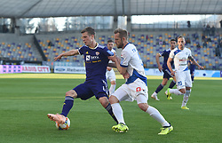 Aleks Pihler of Maribor and Jure Travner of Celje in action during football match between NK Maribor and NK Celje in Round #24 of Prva liga Telekom Slovenije 2018/19, on March 30, 2019 in stadium Ljudski vrt, Maribor, Slovenia. Photo by Milos Vujinovic / Sportida