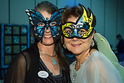 "Patricia Stout and Sally Buras; The Women's Center for Healing and Transformation ""An Evening of Masquerade"" fifth annual fundraising gala at the Castine Center in Mandeville, Louisiana on March 31, 2017"