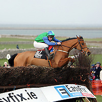 Brian Hassett on One Cool Guy race to victory in the third at the 2007 Bellhabour Point to Point on Sunday.<br /><br /><br /><br />Photograph by Yvonne Vaughan.