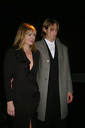 Kim Cattrall and Alan Wyse . Whose Life is it Anyway? opening night performance at Comedy Theatre, Panton Street followed by Party at Mint Leaf. London. 26 January 2005. ONE TIME USE ONLY - DO NOT ARCHIVE  © Copyright Photograph by Dafydd Jones 66 Stockwell Park Rd. London SW9 0DA Tel 020 7733 0108 www.dafjones.com